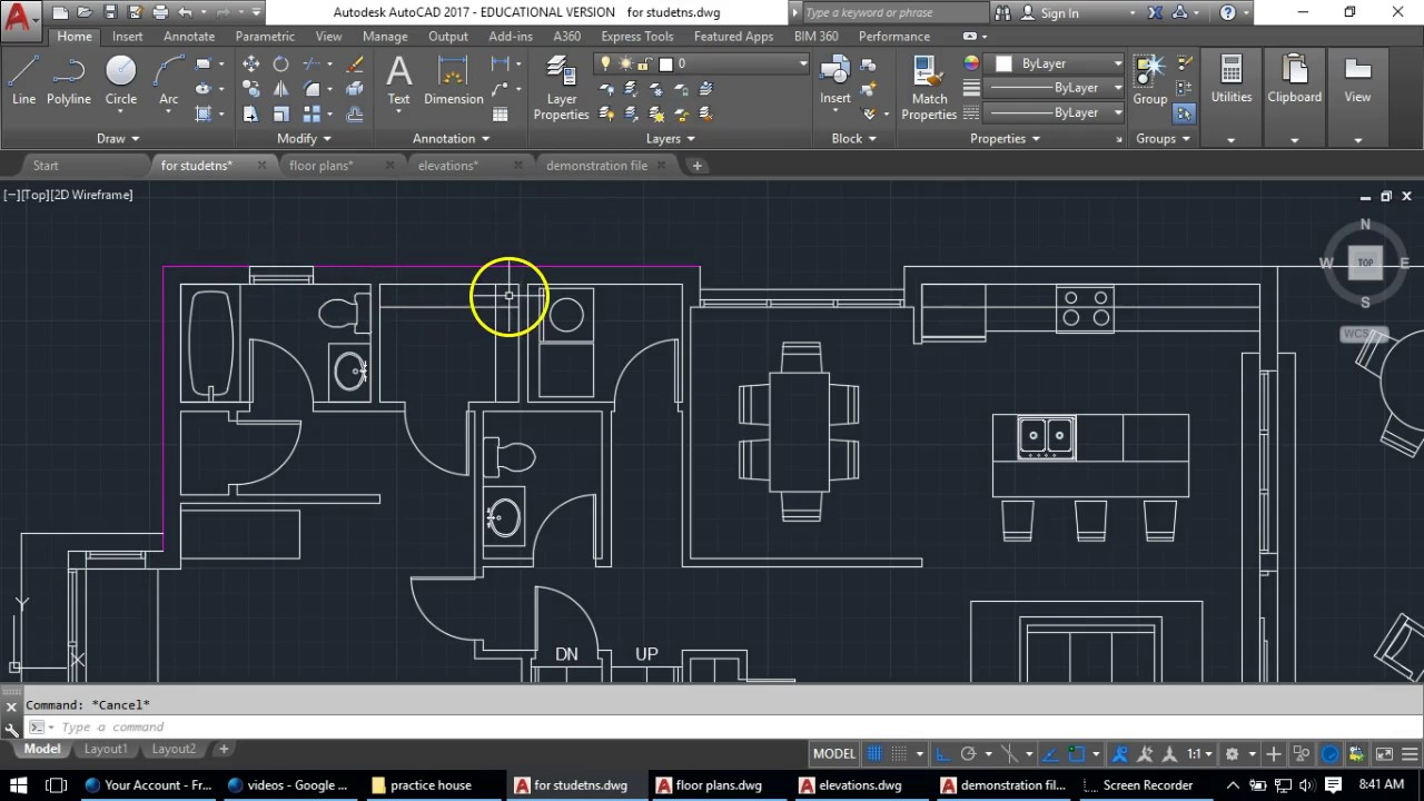 Layers Lineweights In Autocad Youtube