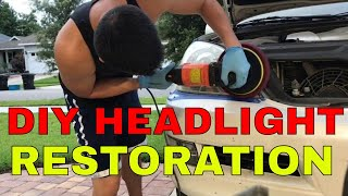 Headlight Restoration On Lexus Gx470