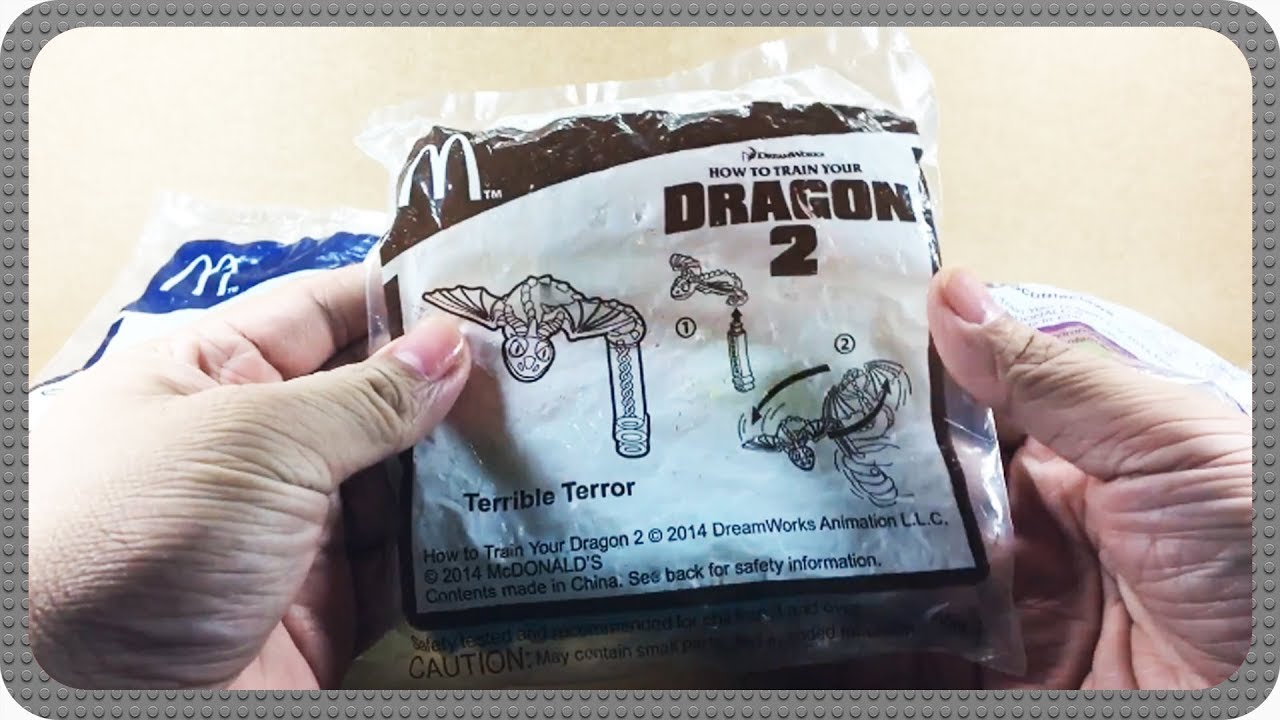 Mcdonald S Happy Meal How To Train Your Dragon 2 Complete Set Youtube