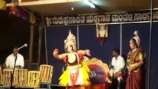Yakshagana saligrama mela .... chandrahas gowda abhimanyu  Kota with 5 chande