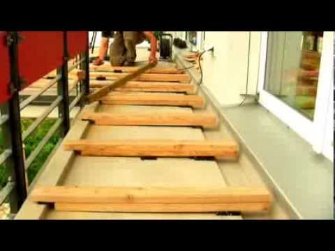 bauanleitung holzterrasse in berlin by holz service youtube. Black Bedroom Furniture Sets. Home Design Ideas