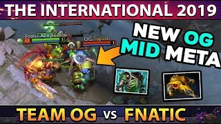 OG vs FNATIC - Team OG Creating NEW Meta Again! Topson Solo Mid Earth Spirit - WTF IS THIS?! #TI9