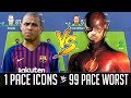 1 Pace Icons VS 99 Pace Worst Team - FIFA 19 Experiment