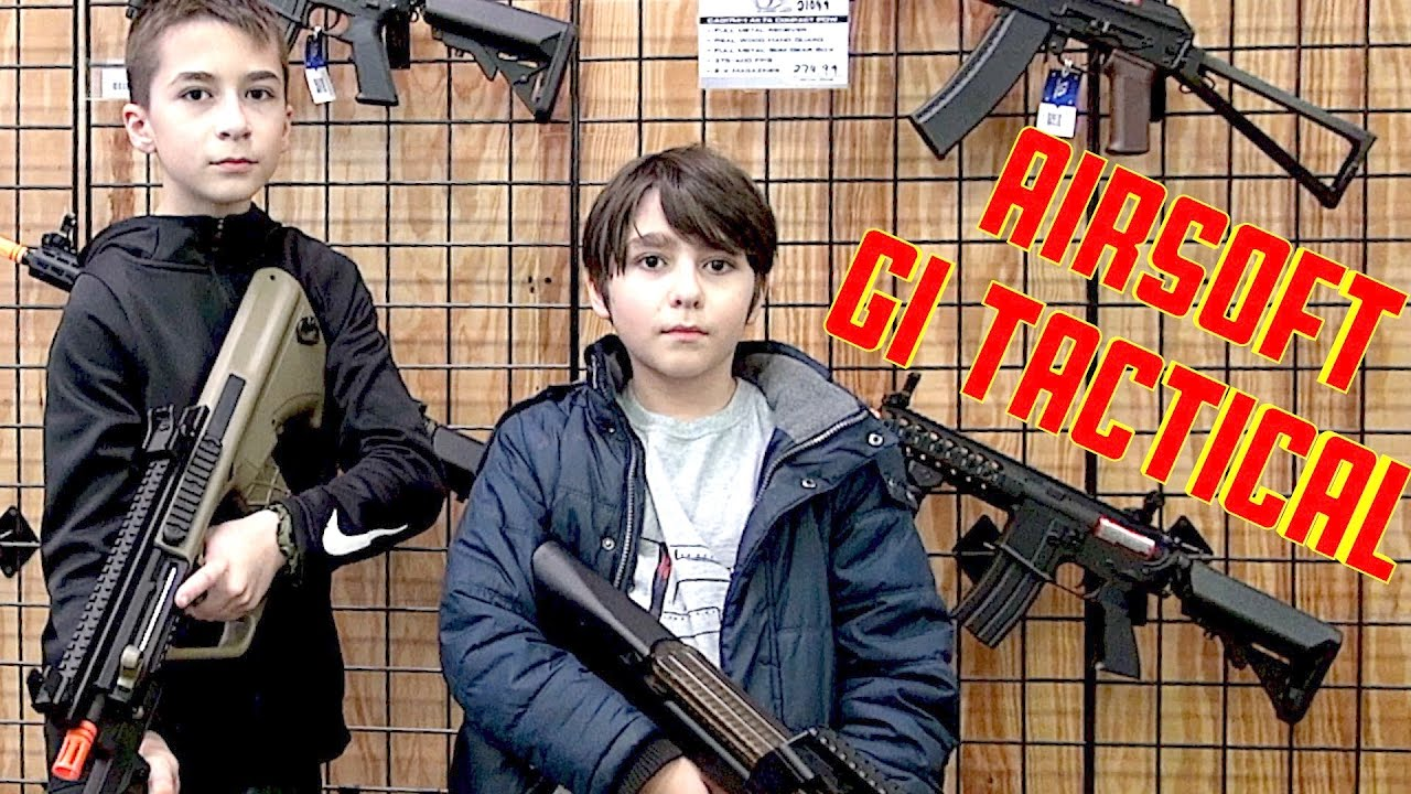 HappyFamily1004 visits GI TACTICAL Airsoft Store - YouTube