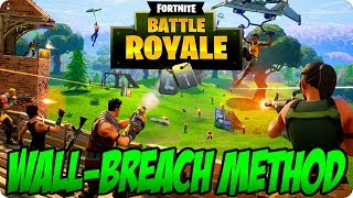 Fortnite Battle Royale; Nouveaux pépins sous la carte - WALL-BREACH - Easy Fortnite Glitch