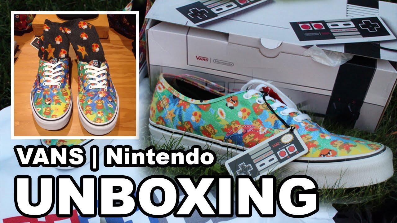 3161edb0d1 Vans x Nintendo Shoes Unboxing