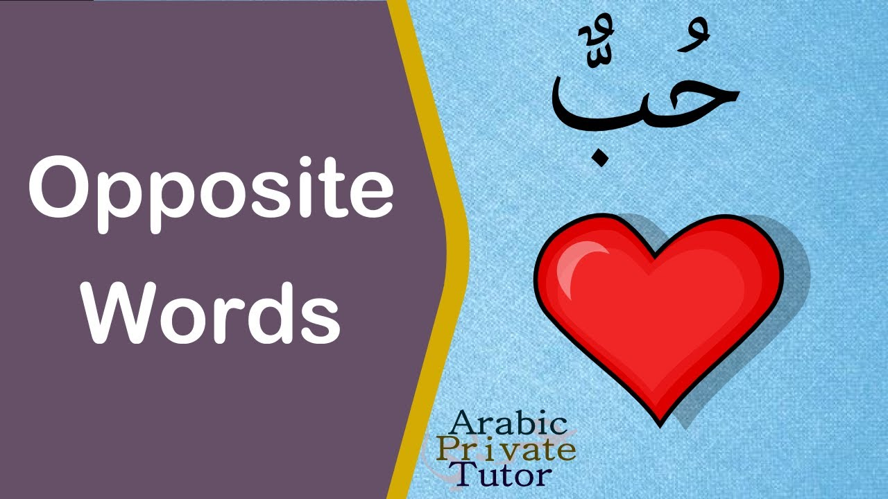 Arabic Opposite Words Arabic Private Tutor Youtube