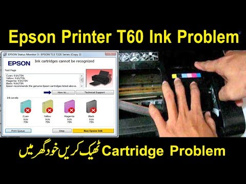 Epson Printer T60,T50 Ink Problem And Cartridge Problem And All Any Problems Solve Details