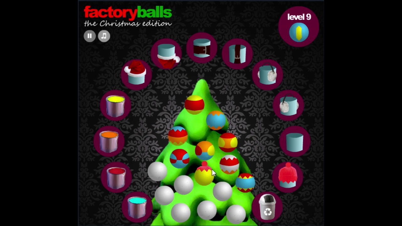 Factory balls christmas edition level 9 cool math for Cool christmas math games