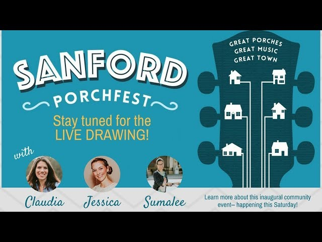 Sanford Porchfest Info and Giveaway