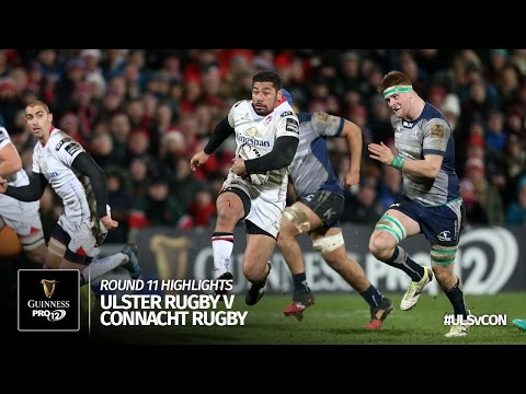 Round 11 Highlights: Ulster Rugby v Connacht Rugby   2016/17 season