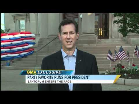 Rick Santorum, Former Republican Senator from Pennsylvania, on 2012 Election: