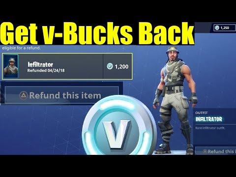 How To Refund V-bucks On Fortnite Get Your V-bucks Back! (Fortnite Tips & Tricks)