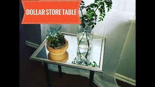 DOLLAR STORE SIDE TABLE USING TOILET PLUNGERS!
