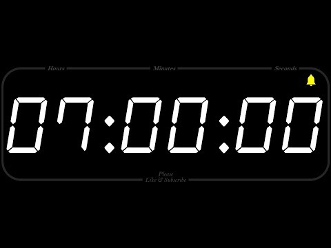 7 Hour - TIMER & ALARM - 1080p - COUNTDOWN