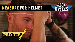 Measuring to Get the Right Size Helmet with J&P Cycles