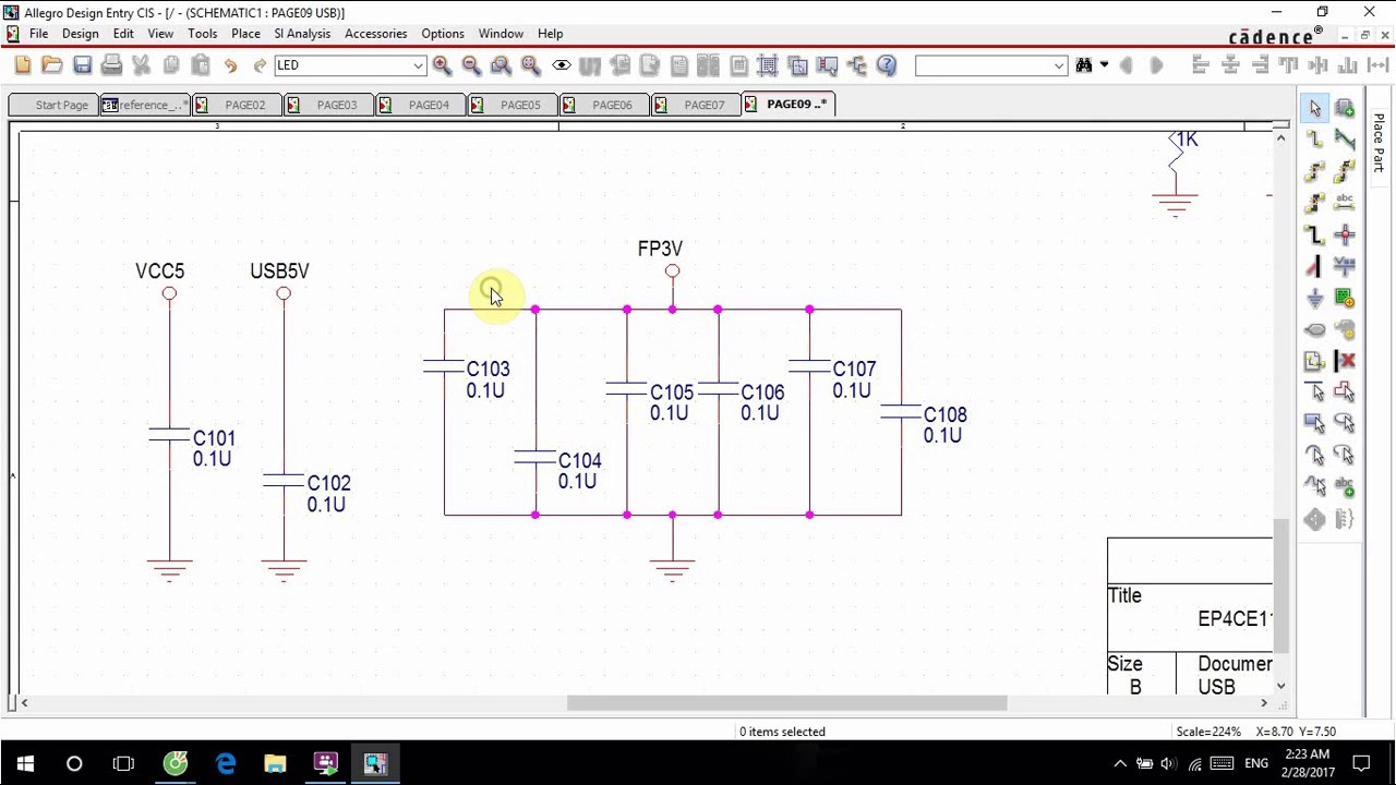 Orcad Capture Auto Connect To Bus Wire Youtube Diagram