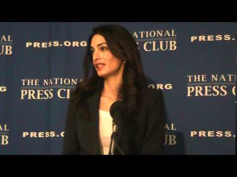 Anthony E. Gallo Newsmaker: Amal Clooney Defends Maldives President at National Press Club 2015
