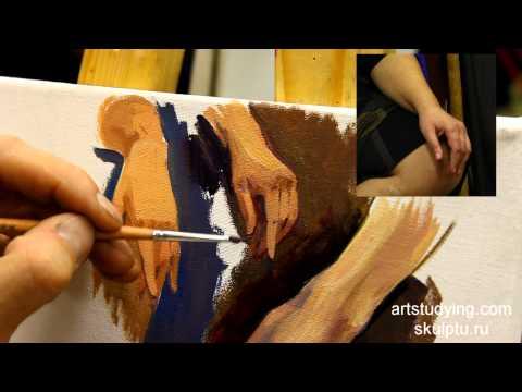 Короткие этюды рук - Живопись. Фигура, 39 серия