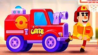 БИТВА МАШИН новая игра для маленьких детей #3 игровой мультфильм 2019 Racemasters Clash of Cars