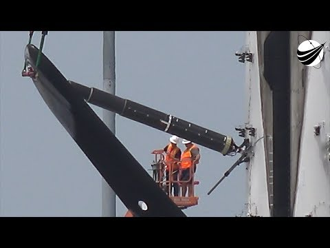 SpaceX - First Leg Retract - Booster Lift   07-27-2018