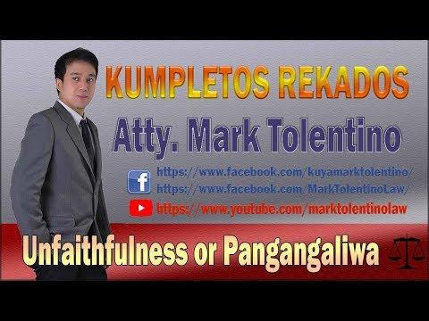 unfaithfulness pangangaliwa