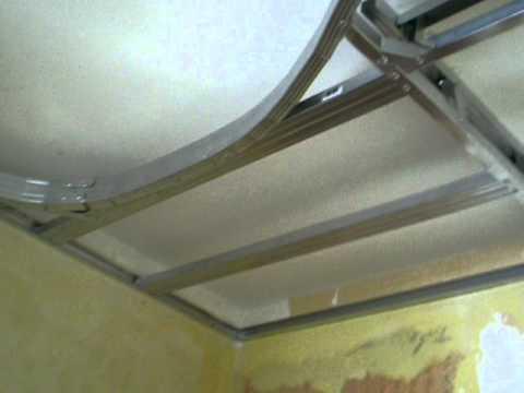 видео: потолок из гипсокартона - часть 1