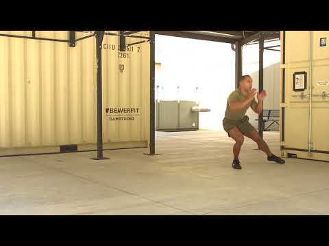 Marines Force Fitness-Lateral Squat Wave