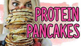 Die BESTEN Protein Pancakes der Welt - Fitness Rezepte für Muskeln  😜