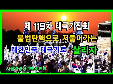 제 119차 태극기집회 / 대한애국당 / 서울역광장 / 2019.4.20