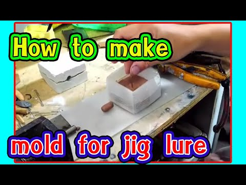Diy aen l How to make mold for jig lure very easy l how to