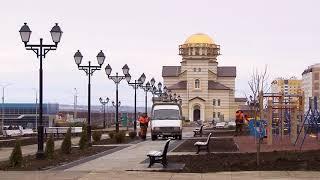 В пос. Солнечный заканчивается строительство бульвара героев Отечества