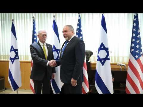James Mattis visits Israel Defense Ministry Headquarters in Tel Aviv April 21, 2017