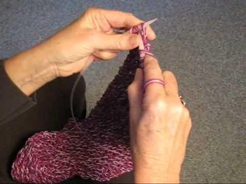 Knitting Straight Stitch On Circular Needles : KNITTING STRAIGHT ON A CIRCULAR NEEDLE - YouTube