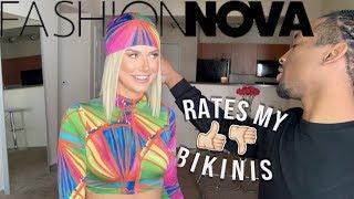MY BOYFRIEND RATES MY FASHIONNOVA BIKINIS!