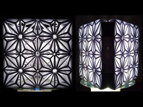 Tutorial 29 - Paper Modular Folding Lamp Star Tessellation / Snapology