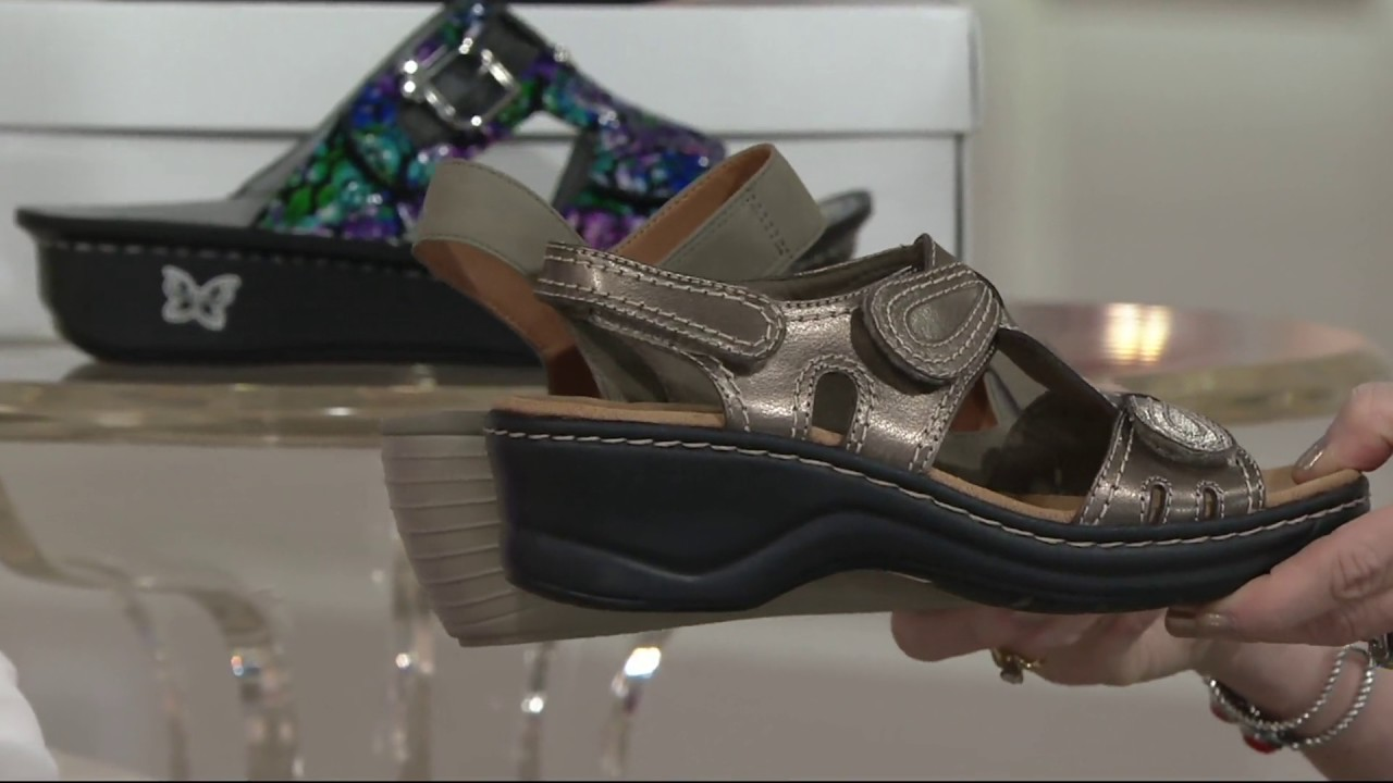 ae0f428ee95 Clarks Nubuck Triple Strap Wedge Sandals - Reedly Juno on QVC - YouTube