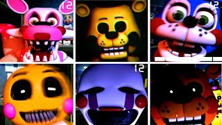 Another Nights At Freddy S Remastered All Jumpscares 2017 Fnaf