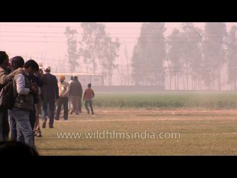 Indian men takes part at horse racing competition