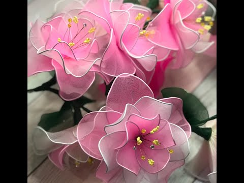 Цветы из колготок своими руками мастер класс для начинающих