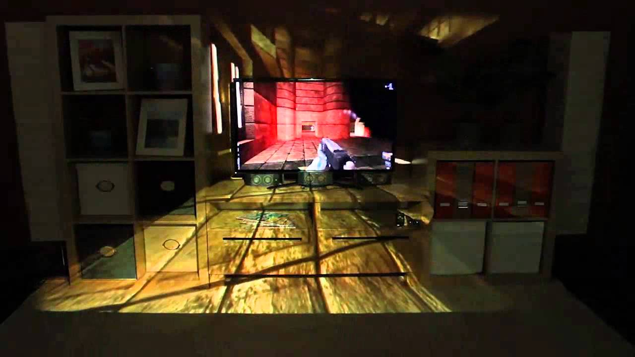 Illumiroom Peripheral Projected Illusions For Interactive