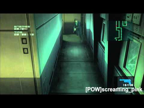Snake (Tuxedo) Hold Up Mode levels 1-10 MGS 2 HD VR Missions Part 58
