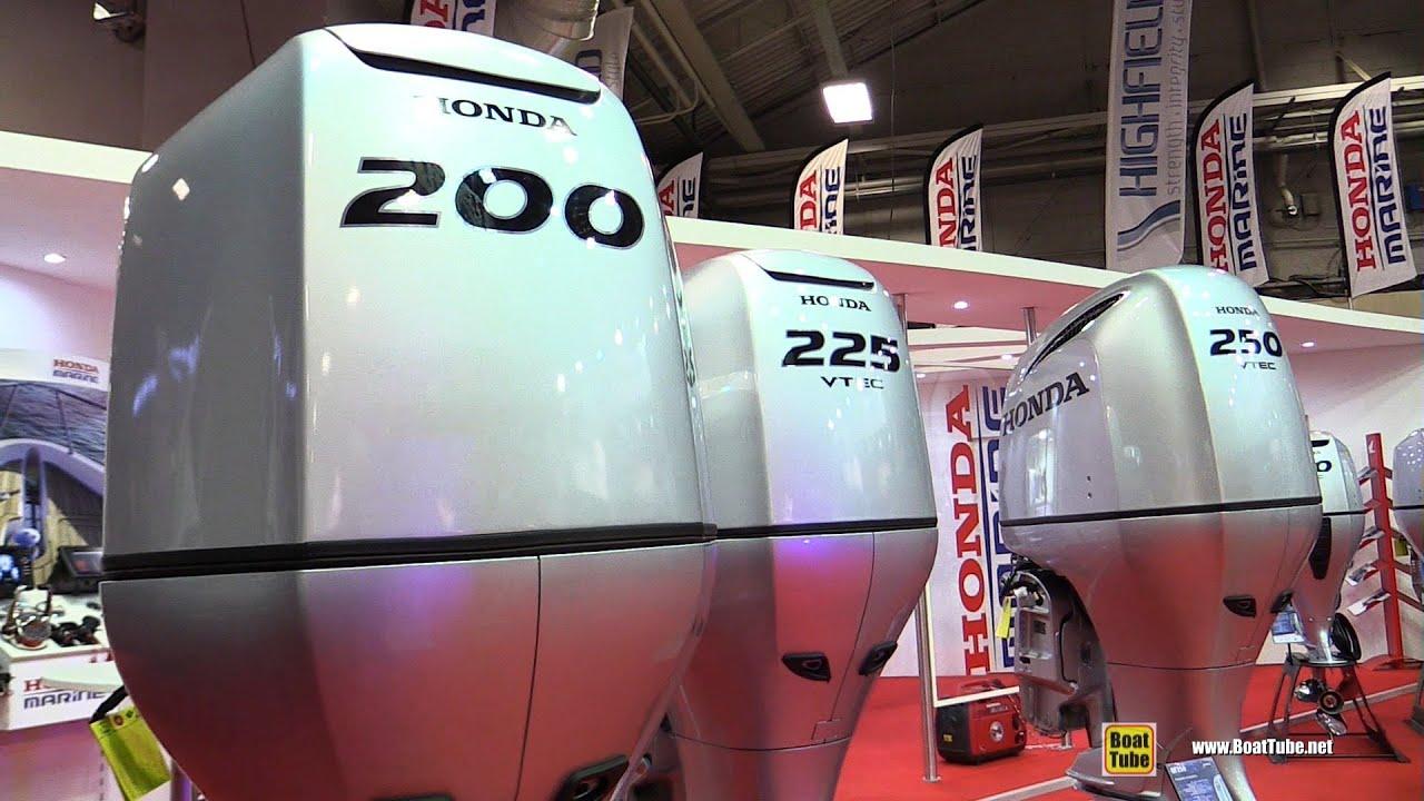 2016 Honda Outboard Engine BF200 BF225 BF250 - Walkaround - 2015 Salon  Nautique de Paris