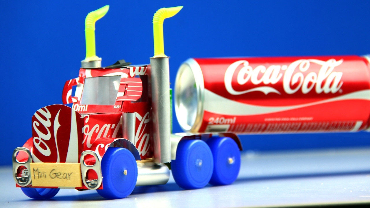 How To Make A Coca Cola Truck With Dc Motor Awesome Coca Cola Truck Youtube