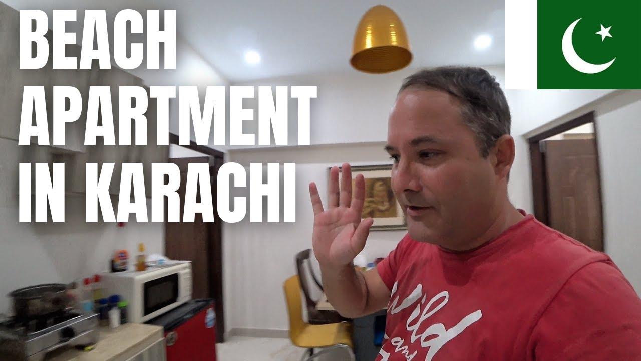BEACH APARTMENT IN KARACHI / SEA VIEW BEACH / FAMILY FLAT / PAKISTAN TRAVEL VLOG