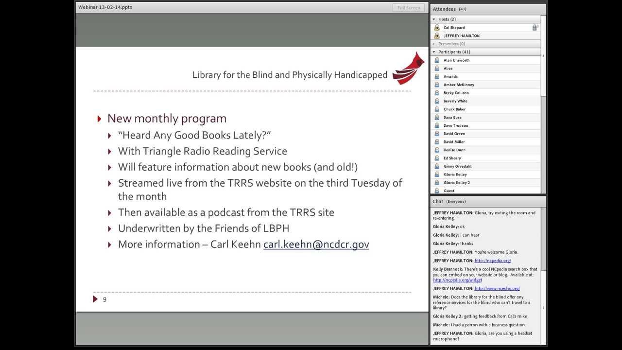 State Library of North Carolina Update - February 2013