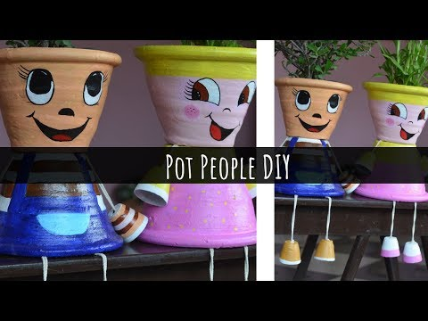 Pot People DIY | Step by Step DIY Tutorial | Plants decor Ideas