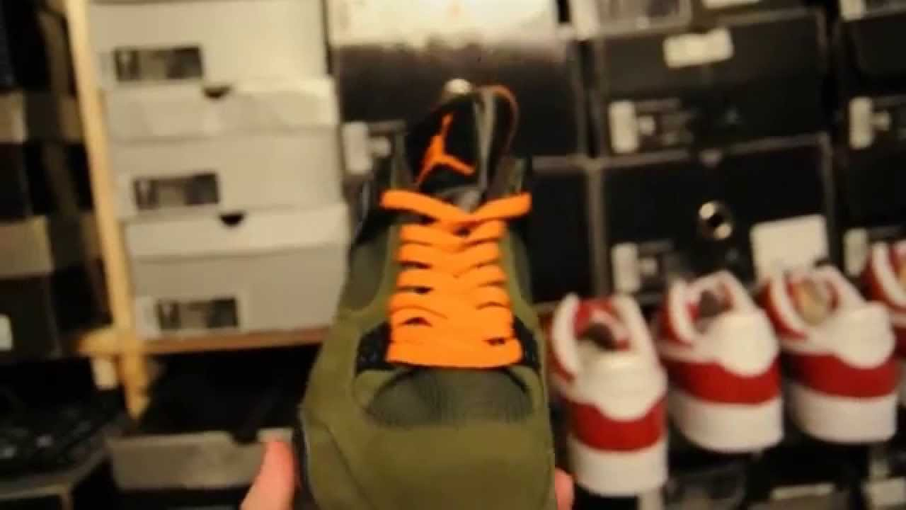 bc3aa64153b80c 2005 Undefeated x Air Jordan 4 (IV) Retro - YouTube