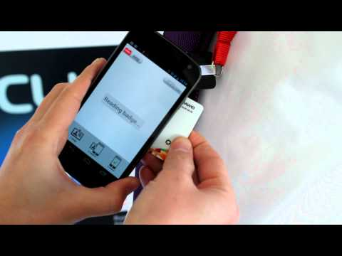 MWC Badge Reader in action