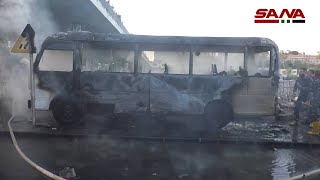 GLOBALink | 14 killed in Damascus army bus explosion